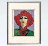 144-51 赤い帽子の女(池田満寿夫)