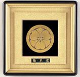 156-51 豪華立体家紋額(24Kメッキ仕上)