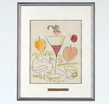 146-54,55 フルーツとワイングラス (池田満寿夫)