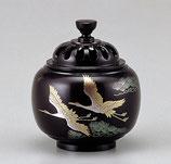 138-52 玉胴型香炉 双鶴 蒔絵