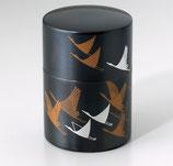 124-55 銅製茶筒 鶴寿