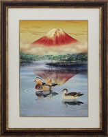 146-04 朱映おしどり(北光修 作)