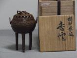 A19.須賀月真 蝋型鋳造香炉 小丸型霊芝付