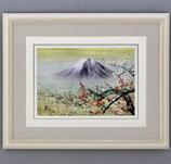 144-01 紅白梅富士(北光修 作)