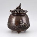 129-05 福兎 宝袋香炉