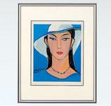 144-52 白い帽子の女(池田満寿夫)