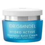 DR. GRANDEL HYDRO ACTIVE Hyaluron Refill Cream - Hyaluron Creme mit 'Falten-Füller'-Effekt (50ml)