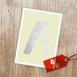 """Buchstaben """"Glitzerpostkarte"""""""