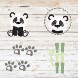 Motiv Panda Flori