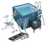 Fit's Pool + Aquabike Falcon + Tapis Aquajogg