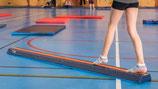 Poutre de gymnastique d'apprentissage