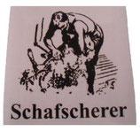 PVC Aufkleber Schafscherer
