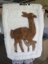 Wandteppich aus echtem Fell