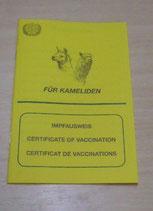 Impfausweis für Kamelieden