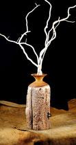 Vase aus altem Zaunpfahl 7
