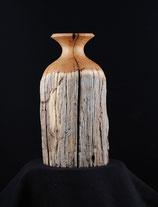 Vase aus altem Zaunpfahl 2