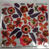 pellicola stampata x sospeso trasparente miniflowers red-8