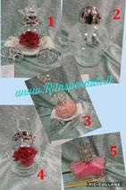 Le fate di cristallo carozza con rosa rossa LF104