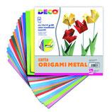 carta metallizzata per origami 24 fogli 15x15cm cwr