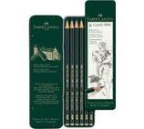 Scatola in metallo con 6 matite di grafite Castell 9000 assortite 4005401190639
