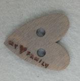 cuoricino in legno nastri di mirta MY FAMILY  3,5 cm