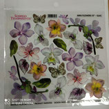 pellicola stampata x sospeso trasparente mini flower lilac -7