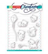 timbro coppia creativa TU371 - Gattini coccolosi