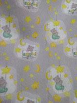 panno quadrotto 50x50 cm orsetto con stelle luna eccomi