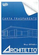 Blocco Carta Da Lucido A3 cm. 42x29,7 - Album 10 Fogli Carta