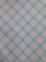 panno quadrotto 50x50 cm scozzese bianco e azzurro