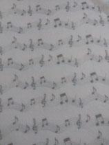 panno quadrotto 50x50cm beige tortora note musicali