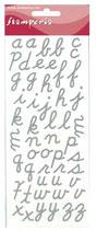 Alfabeto Adesivo stamperia Sbalf1
