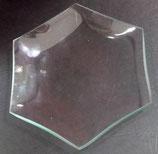 Piattino Esagono Vetro 12 cm