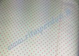 cotone bianco pois-rosa 100x140 cm