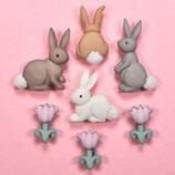 BOTTONI DECORATIVI coniglietti