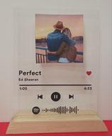 Cornice Spotify a scelta canzone e foto