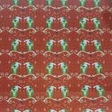 panno stampato glitter gufetti 30x40 cm