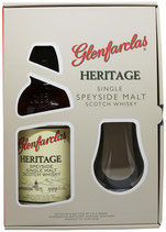 Coffret Glenfarclas Heritage Single Speyside Malt Ecosse avec verre