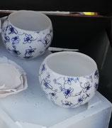 EB- Tasses fleuries en porcelaine