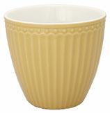 GreenGate Alice Latte Cup honey mustard