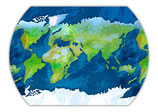 Geo Tao (Planisphere Palindrome) Poster Version