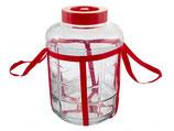 Банка стеклянная с гидрозатвором, 9 литров