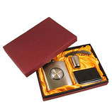 Подарочный набор: фляжка 210 мл., стопка, штопор, визитница