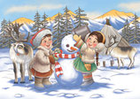 Postkarte Schneemann