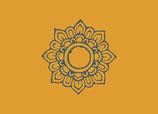 Postkarte Blumenornament