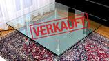 VERKAUFT: Glas-Couchtisch von ROLF BENZ !!
