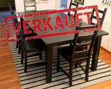 VERKAUFT:  Ausziehtisch und 6 Stühle mit Sitzkissen - IKEA