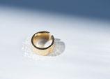 Hammer Finish Gold Ring