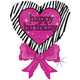Birthday Zebra Bow 70cm
