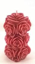 Bougie bouquet couleur rouge parfum roses